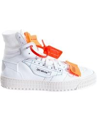 Off-White c/o Virgil Abloh - Appliquéd Logo-embellished Canvas, Textured-leather And Suede High-top Sneakers White It38 - Lyst