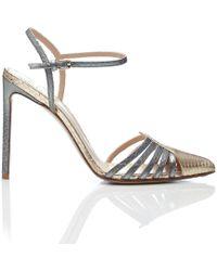 28fe5029d66 Francesco Russo - Water Snake Ankle Strap Heels - Lyst