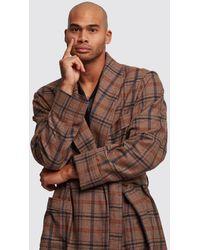 Gucci Mountain Check Robe - Brown