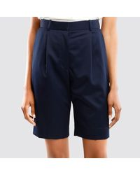 The Row Marco Womans Blue Shorts