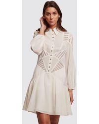 Olivier Theyskens White Shirt Dress