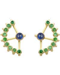 AIMEE AIMER Beija-flor Hummingbird Earrings - Green