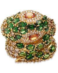 Madstone Medusa Diamond Ring - Green