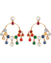 Sanjay Kasliwal | Navratna Drop Earrings | Lyst