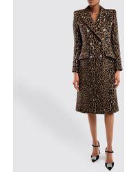 Alexandre Vauthier Leopard Coat - Brown
