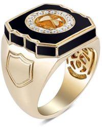 Stephen Webster Black Enamel England Made Me Ring
