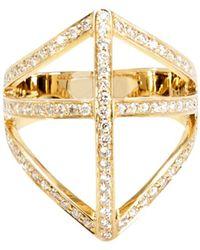Campbell - Diamond Shield Ring - Lyst