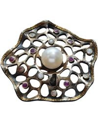 Kirat Young - Ruby And Pearl Ring - Lyst