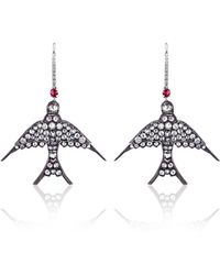 Sidney Garber - Swallow Diamond Earrings - Lyst