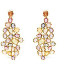 Sidney Garber - Sapphire Wave Yellow Gold Earrings - Lyst