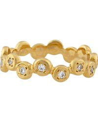 """Campbell Yellow Gold """"circle Bubble"""" Ring With Diamonds - Metallic"""