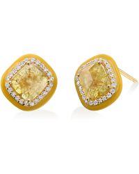 Nina Runsdorf - Yellow Slice Diamond Stud Earrings - Lyst