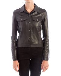 The Row - Coltra Black Leather Jacket - Lyst