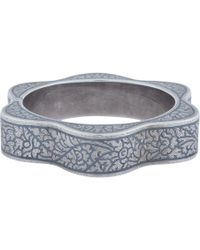 Royal Thai - Thai Silver Floral Niello Bracelet - Lyst