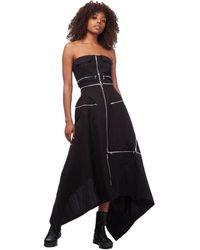 Yohji Yamamoto Bustier Zipper Dress - Black