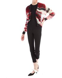 Rodarte Red Loose Knit Cardigan