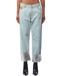 Paco Rabanne Silver Trim Jeans - Blue