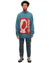 OAMC Bleach Crewneck Sweater - Blue