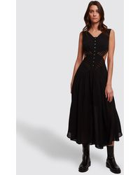 Olivier Theyskens Black Side Cut-out Dress