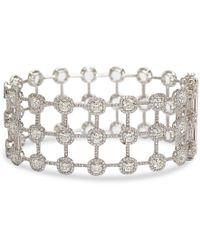 Nina Runsdorf - Diamond Cage Bracelet - Lyst
