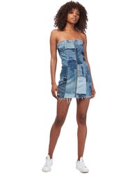 RE/DONE Levi's Patchwork Denim Dress - Blue