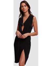Olivier Theyskens Black Sleeveless Dress