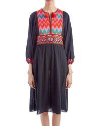 Figue - Violeta Navy Bohemian Dress - Lyst
