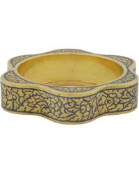 Royal Thai - Thai Gold Floral Niello Bracelet - Lyst