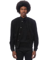 The Row - James Black Suede Jacket - Lyst