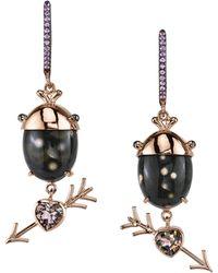 Daniela Villegas - Je T'aime Beetle Earrings - Lyst