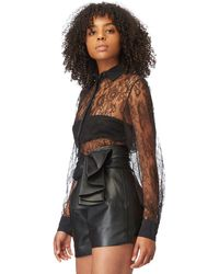 Alexandre Vauthier - Black Leather Shorts - Lyst