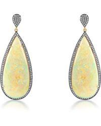 Sanjay Kasliwal - Opal Earrings - Lyst