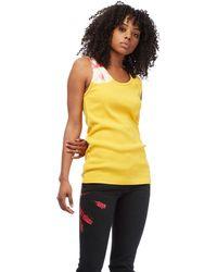 CALVIN KLEIN 205W39NYC - Yellow Tie Dye Tank Top - Lyst