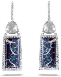 Nina Runsdorf - Opal Diamond Earrings - Lyst