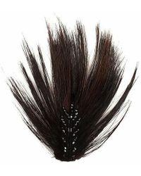John Nollet - Petit Plume Beaded Feather Hair Clip - Lyst