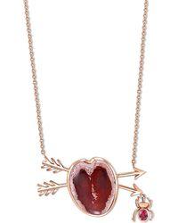 Daniela Villegas - Corazon Heart Necklace - Lyst