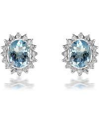 Sanjay Kasliwal - Round Aquamarine Earrings - Lyst