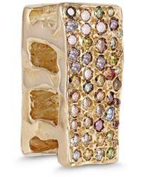 Allison Read Smith Gold Cinder Block Diamond Pendant - Metallic