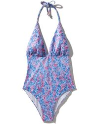 Kampos Classic One Piece Swimsuit Coral Forest (red) - Blue