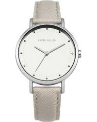 Karen Millen - Camel Saffiano Leather Watch - Camel - Lyst