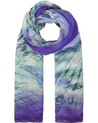 Karen Millen - Palm Print Scarf - Multicolour - Lyst