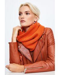 Karen Millen Cashmere Knitted Snood - Orange