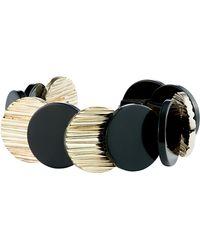 Karen Millen - Textured Disc Bracelet - Lyst