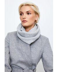 Karen Millen Cashmere Knitted Snood - Grey
