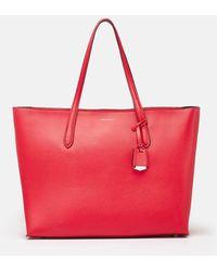 Karen Millen Textutote Bag - Red