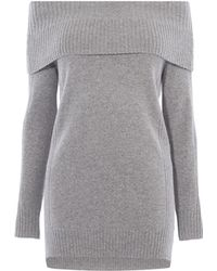 Karen Millen - Off-the-shoulder High/low Sweater - Lyst