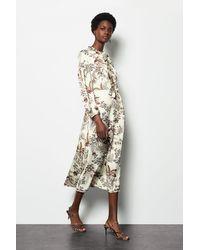 Karen Millen Botanical Print Midi Dress Floral - Multicolour
