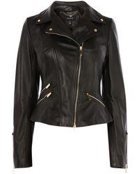 bf19d27fa Leather Biker Jacket - Black