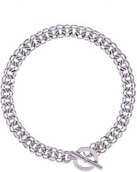 Karen Millen - Encrusted Bar & Hoop Necklace - Km - Lyst