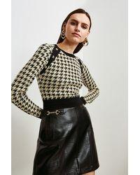 Karen Millen Textured Jacquard Knitted Jumper - Multicolour